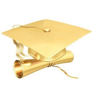 Golden Graduation Cap