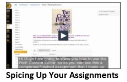 Spicing Up Your Assignments Video