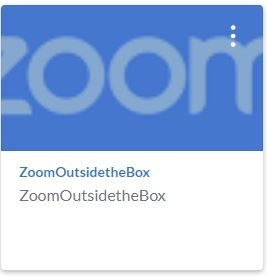 Zoom Outside the Box Training Shell