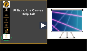 Canvas Help Tab Video