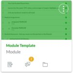 Module Template Canvas Course Tile