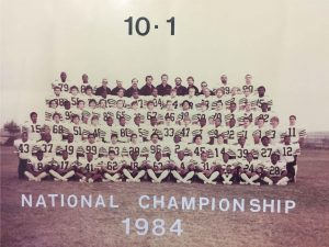 1984 National Championship Football Team inducted for Outstanding Team
