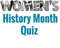 Women's History Month Quiz blue