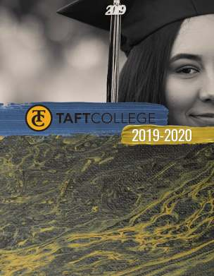 Taft College 2019-2020 Catalog Cover