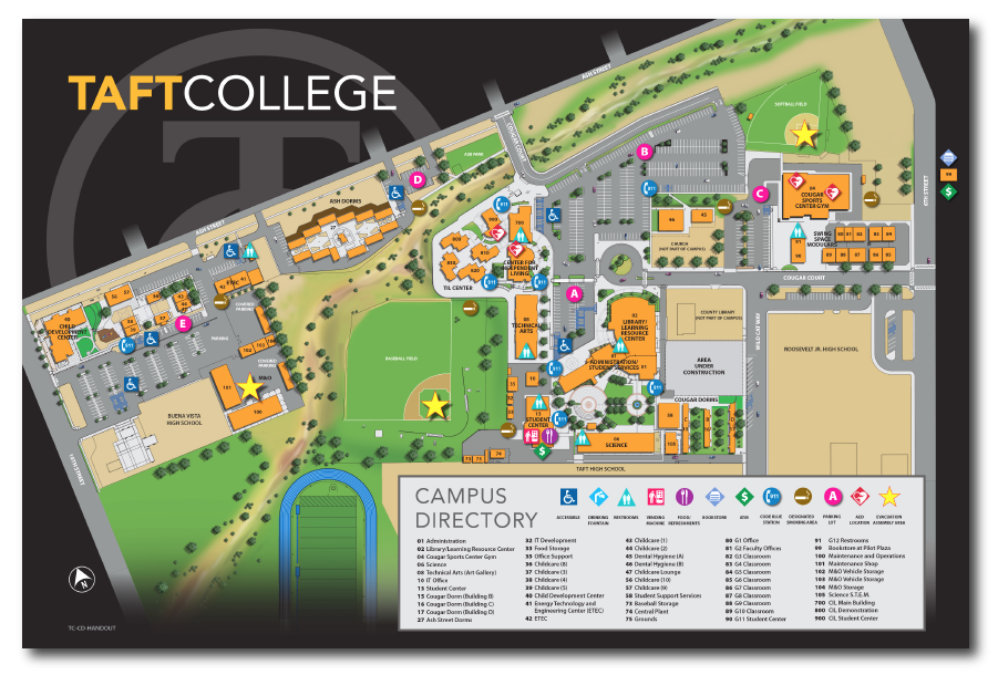 Taft College Campus Map.Taft College Map Related Keywords Suggestions Taft College Map