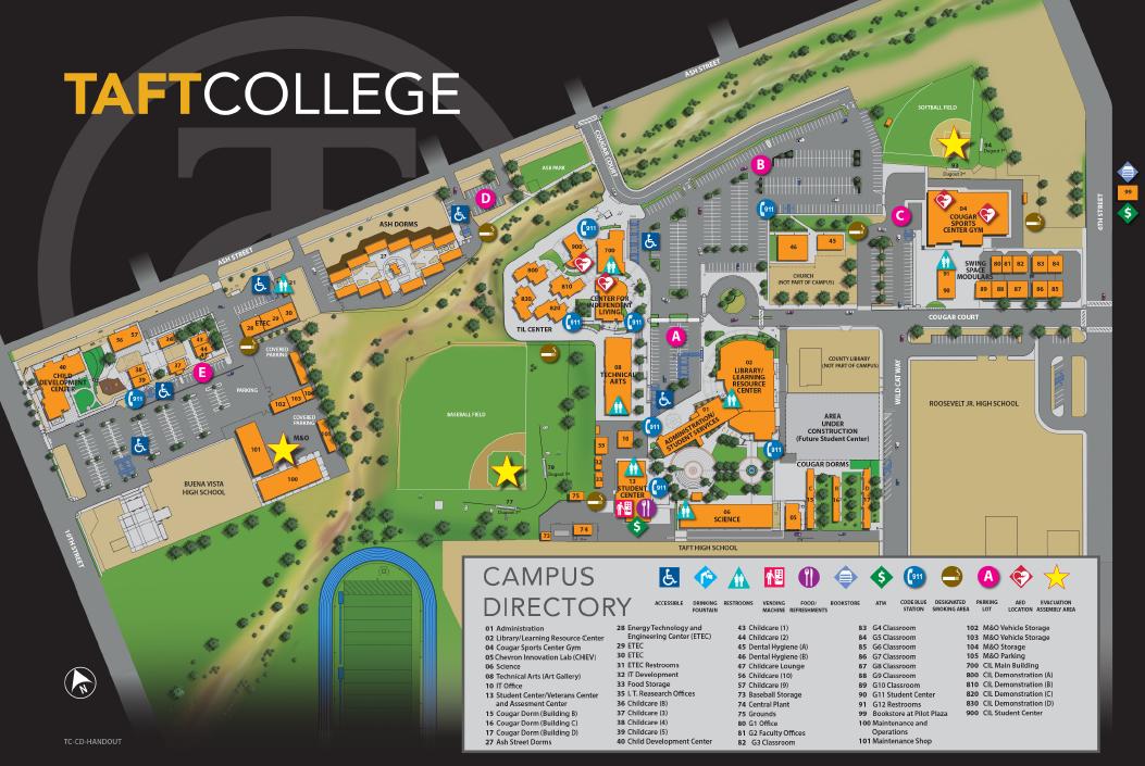 Taft College Campus Map