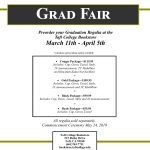 Grad Fair Bookstore announcement