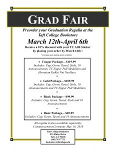 Grad Fair flier March 12th to April 6th