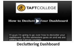 Decluttering Dashboard Video