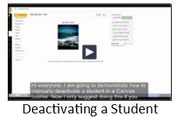 Deactivating a student video