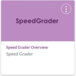 Speed Grader Canvas Course Tile