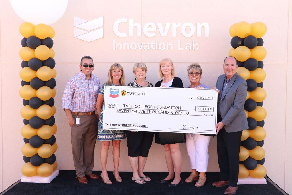 Chevron Innovation Lab, Check ceremony