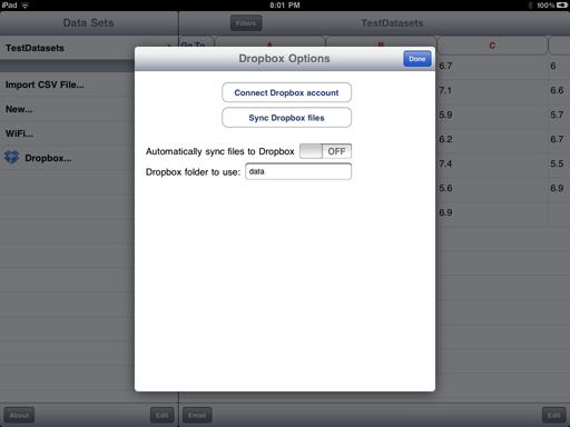 Dropbox Options